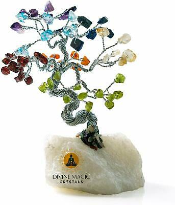 Divine Magic Handmade 7 Chakra Natural Crystal Tree of Life Fengshui Items for