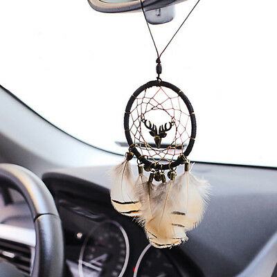 1PC Indian dream catcher net with feather wind chimes car home hanging ornam JG