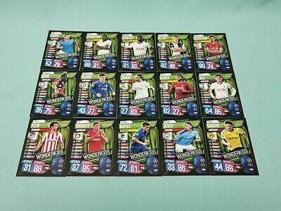 Topps Match Attax Champions League 2019/2020 alle 15 Wonderkids 19/20
