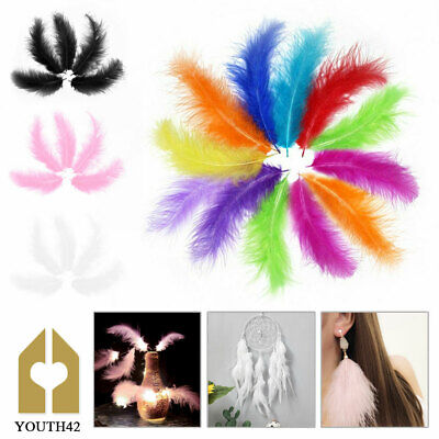 Fluffy Marabou Feathers Card Making Crafts Embellishments Trimming 12-15cm 200X