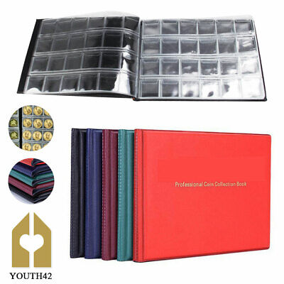 240 Collection Storage Penny Pockets Money Album Book Collecting Coin Holder