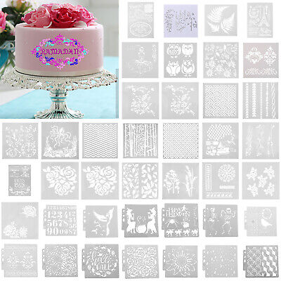 DIY Biscuit Coffee Stencil Scrapbooking Template Cake Art Painting Spray Mold