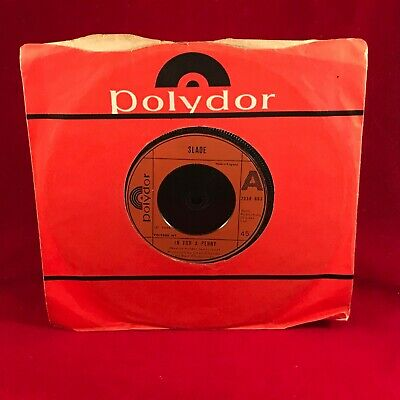 "SLADE In For A Penny 1975 UK 7"" vinyl single EXCELLENT CONDITION original"