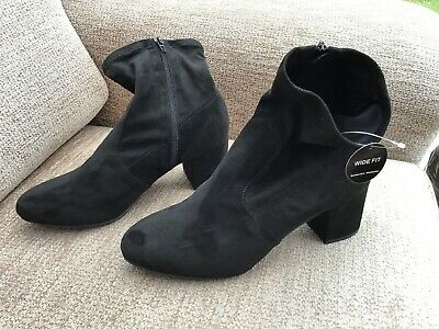 Ladies Ankle Boots Dorothy Perkins 8 Wide Faux Suede BRAND NEW TAGS
