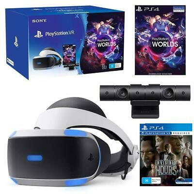 @=NEW=@ Sony PlayStation VR PSVR + PS4 Camera + VR Worlds + Invisible Hours Game