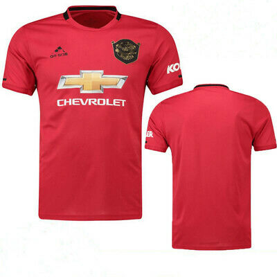 NEW Manchester United Home Shirt 2019-2020 Red Short Sleeve Football Jersey