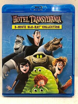 Hotel Transylvania - 3-Movie Blu-Ray Collection + Tested + Free Shipping
