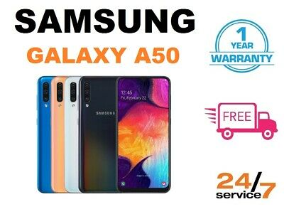 New Samsung Galaxy A50/DS 2019 Android Smartphone 128GB/64GB 4GB 4G All Colours