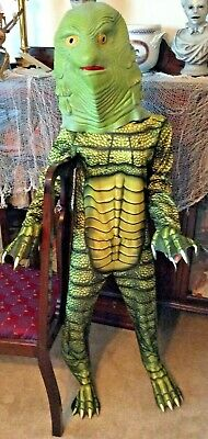 Boys Size L Creature From The Black Lagoon Costume Universal with Rubber Mask