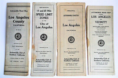 4 SOUTHERN CALIFORNIA LOS ANGELES LA COUNTY CITY VICINITY Road MAP AAA Auto Club