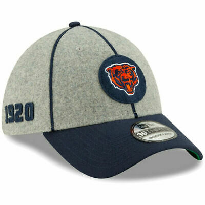 New Era 2019 Men's Chicago Bears Sideline Home On Field 39Thirty Hat NFL 100
