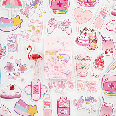 Cute Stickers Kawaii Stationery DIY Scrapbooking Diary Label Stickers 46PCS New