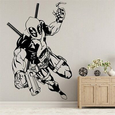 Avengers Deadpool Vinyl Wall Decal Home Decor Bedroom Kids Art Mural Removable