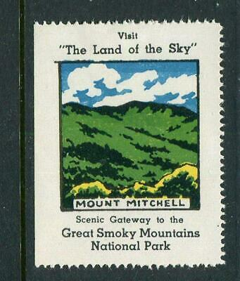 Mount Mitchell Great Smoky Mountains Reklamemarke Poster Stamp
