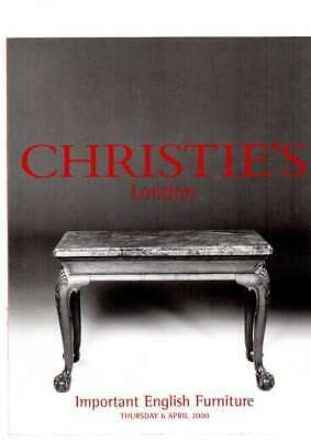 Christies Auction Catalogue Important  English Furniture April 2000 Ex Cond