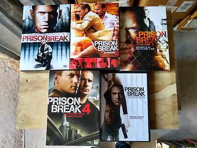 Prison Break Serie Completa Stagione 1, 2, 3, 4 + Final Break Tutti I Dvd