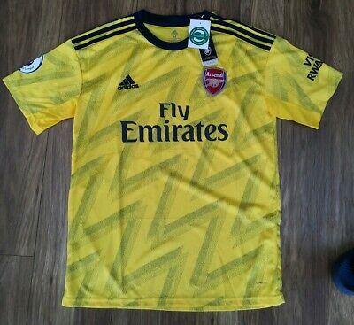 New with tags Arsenal Replica away Shirt 2019/20 mens Large yellow