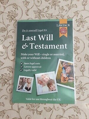 Law Pack Last Will and Testament Kit UK