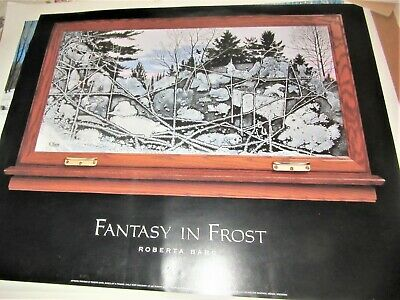 FANTASTY IN fROST BY ROBERTA 1997 art poster animals wolves ducks rabbits