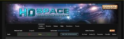 HD-Space Invite - Private Torrent tracker