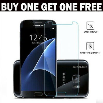 For Samsung Galaxy S7 Glass Screen Protector -100% Genuine Tempered
