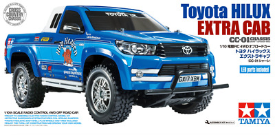 Three Battery WHEEL Deal: Tamiya 58663 Toyota Hilux Extra Cab CC-01 4WD RC Kit