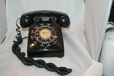 Vintage Western Electric BLACK rotary dial PHONE retro Telephone 500