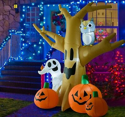 Outdoor Lighted Halloween Yard Inflatable 7ft Live Internal Lightning Airblown