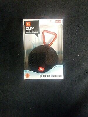 JBL Clip 2 Waterproof Portable Bluetooth Speaker JBLCLIP2BLKAM - Black