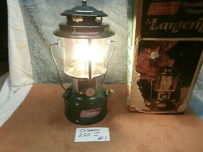 Coleman #220J 2 Mantle  Lantern 6 75 Vg Working Condition Camping Ice Fishing 1