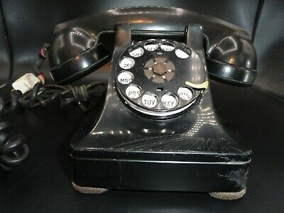Vintage 1930's Bell System Electric Black Rotary Phone