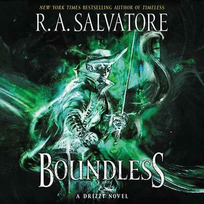 Boundless: A Drizzt Novel by R.A. Salvatore (English) Compact Disc Book Free Shi