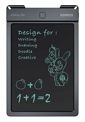 IGERESS 9 inch Black LCD Writing Tablet Board Electronic Drawing Pad eWriters