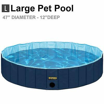 Blue Large Outdoor Pet Swimming Pool Bathing Tub  47 X 12 Portable Foldable