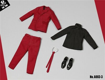 """1/6 Scale TIDE-ZONE Man Red Suit set for 12"""" Action Figure Toys"""