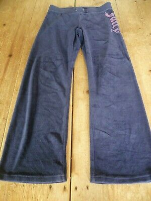 Fabulous JUICY COUTURE KIDS Navy Blue Velour SWEATPANTS Joggers, 8 Years