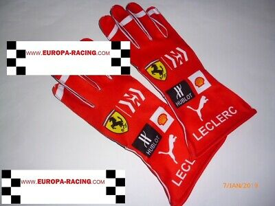Charles Leclerc Ferrari gloves !!  F1  fan / kart  design !! sale !!