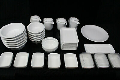 36-tlg Hotel Dishes Hutschenreuther Bauscher Catering Bowls Cans Porcelain