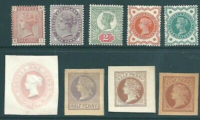 GB Queen Victoria mint and unused stamp & postal stationery collection