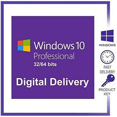Instant Delivery Microsoft Windows 10 Pro 32/64Bit Genuine Key/License