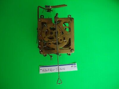 Vintage Cuckoo Clock Hubert Herr Movement with bird for parts or repair #19