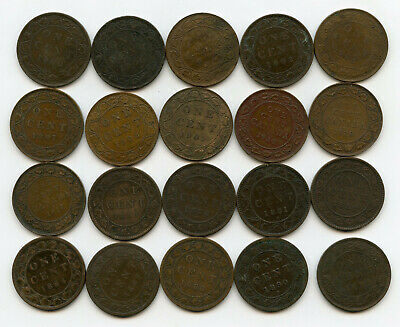 Canada Large Cent Lot 1859 - 1920 Penny Set Collection Canadian - BD984