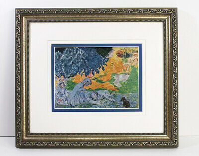 "Extraordinary 1938 Pierre BONNARD Antique Print ""Summer in the Shade"" Framed COA"