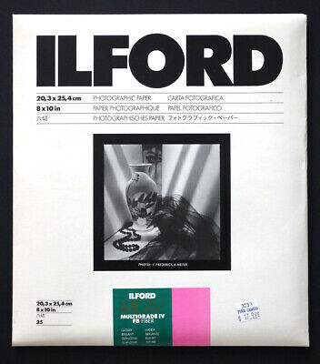 ILFORD Multigrade IV FB Photographic Paper - 8 x 10 in - 25 Sheets  UNOPENED