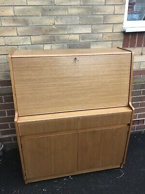 Mid Century Large Teak Remploy Bureau Great Condition All In One Home Office