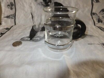 La Cafetiere glass cup Stainless steel Rare
