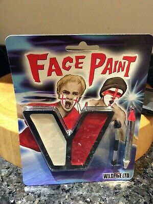 Red White England Flag Face Paint Set with applicator &pencil hallowe'en rugby