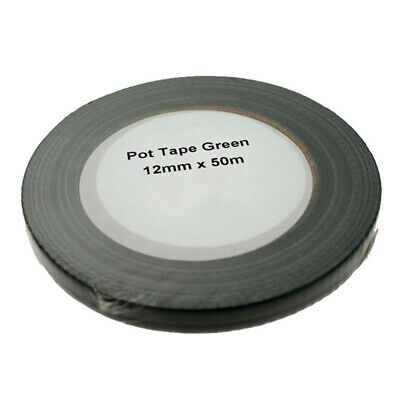 Green Florist Floristery Pot Tape (12mm x 50 Metre Roll)