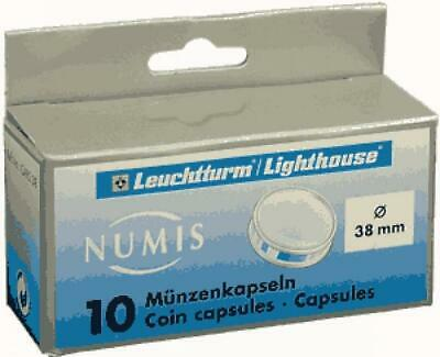 (10) Lighthouse 38mm Direct Fit Clear Round Coin Capsules