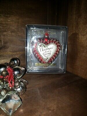 Demdaco The Mercantile Collection Relationship Ornament ~ Christmas Heart ~ NEW